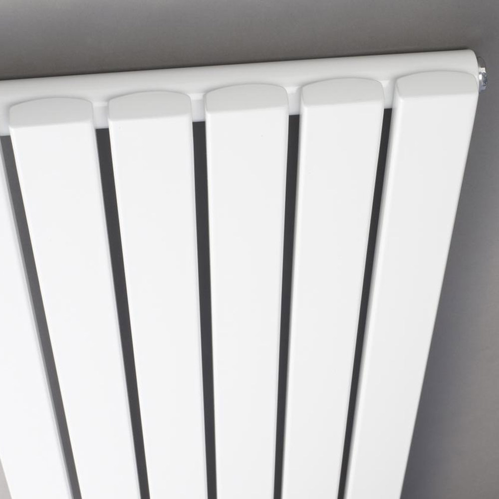 Bilbao White Single Panel Designer Radiator (1500 x 354mm) Profile Large Image