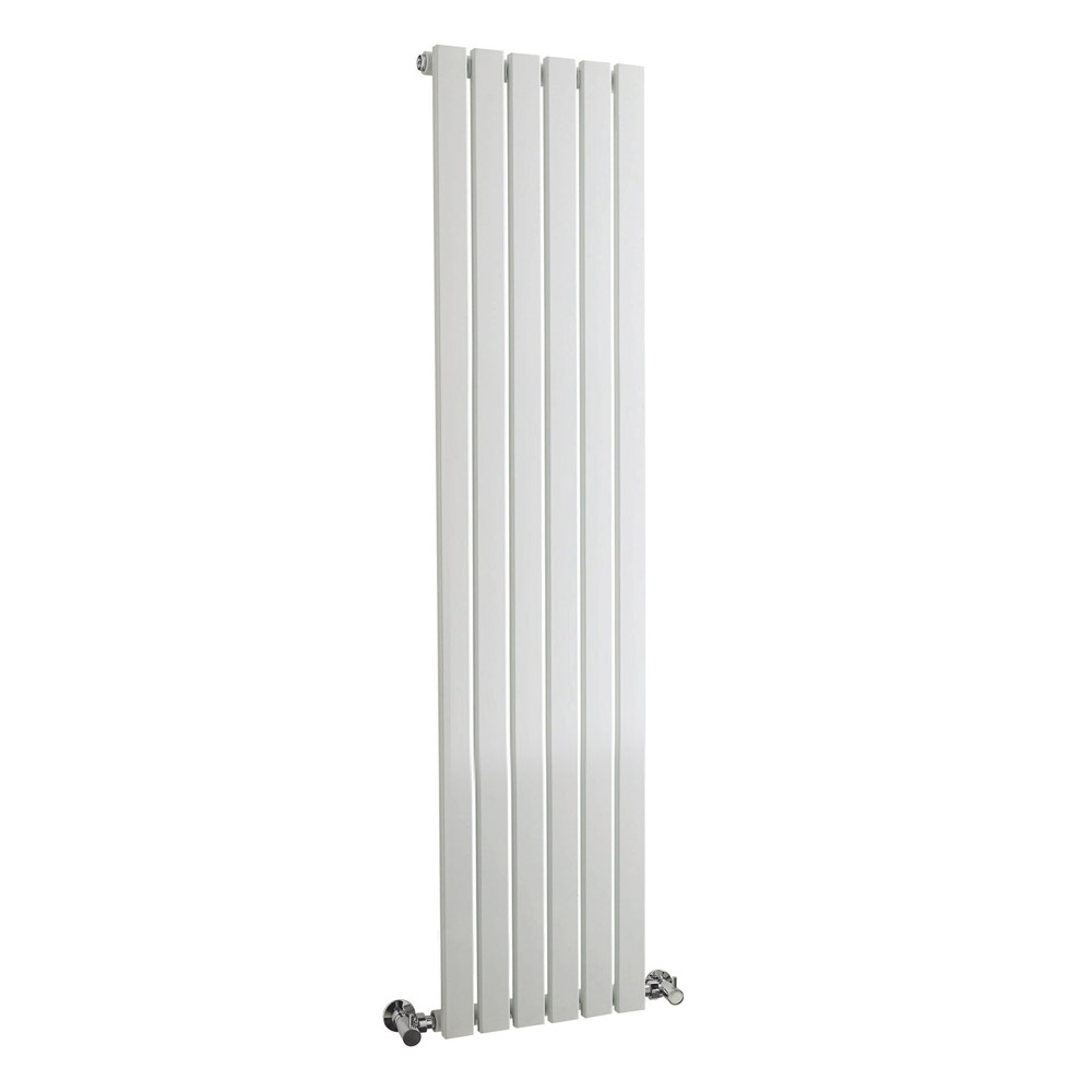 Bilbao White Single Panel Designer Radiator (1500 x 354mm) Large Image