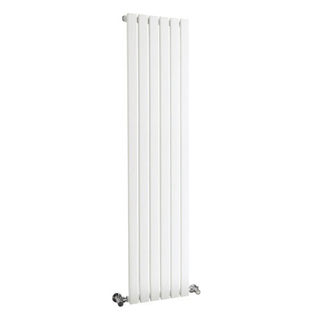 Bilbao White Single Panel Designer Radiator (1500 x 354mm)