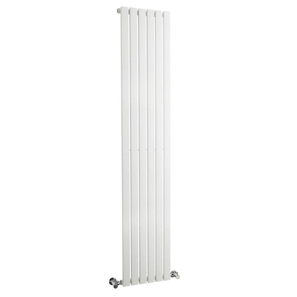 Bilbao White Single Panel Designer Radiator (1800 x 354mm) Large Image
