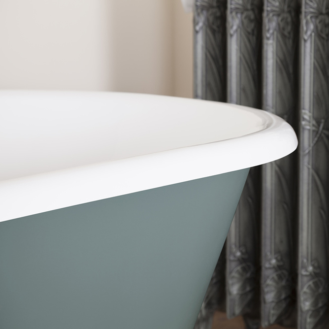 JIG Bisley Cast Iron Roll Top Bath (1690x750mm) with Feet profile large image view 3