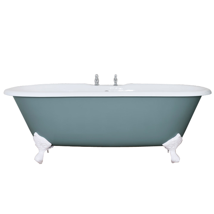 JIG Bisley Cast Iron Roll Top Bath (1690x750mm) with Feet profile large image view 1