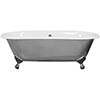 JIG Bisley Fully Polished Cast Iron Roll Top Bath (1690x750mm) with Feet profile small image view 1