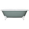 JIG Bisley Cast Iron Roll Top Bath (1690x750mm) with Feet profile small image view 1