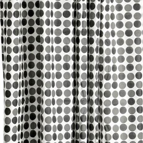 Black Circle PEVA Shower Curtain W1800 x H1800mm - 1605206