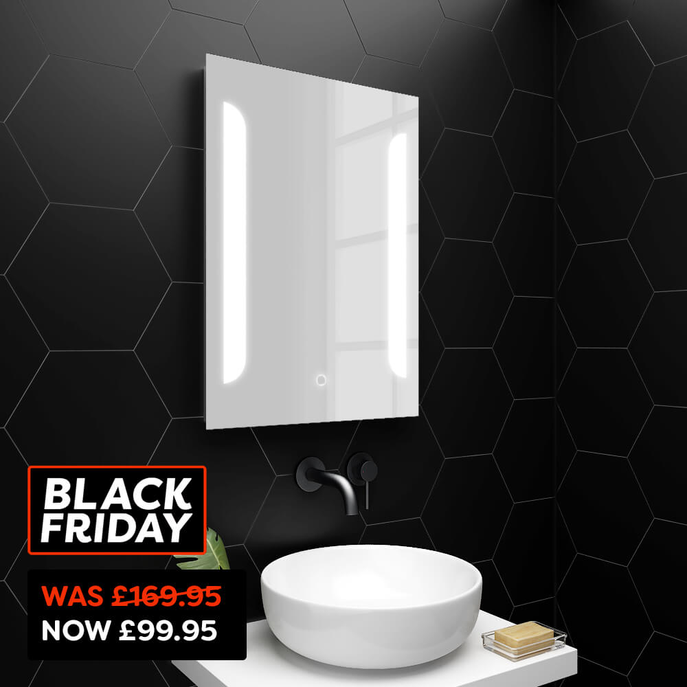 Calgary 500x700mm LED Mirror Inc. Touch Sensor, Anti-Fog + Shaving Port