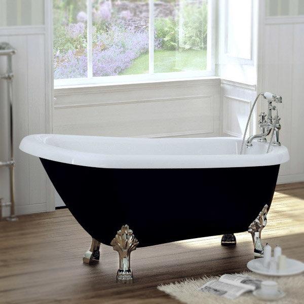 Black Traditional 1540 X 700 Luxury Freestanding Slipper