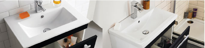 Different styles of basin available