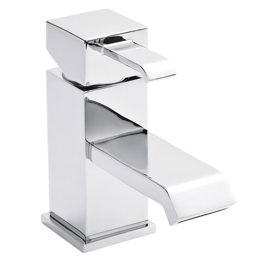 Ultra Blake Waterfall Basin + Bath Shower Mixer - Chrome Profile Large Image