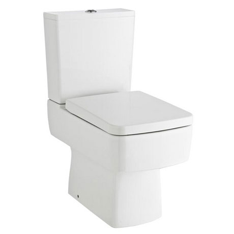 Bliss Close Coupled Square Toilet Inc. Standard or Soft Close Seat Option