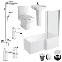 Bliss L-Shaped 1700 Complete Bathroom Package Medium Image