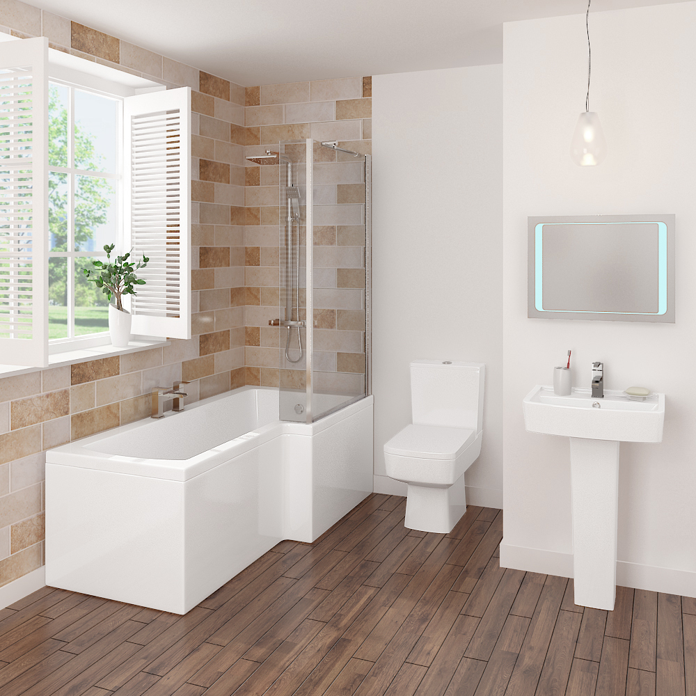 Bliss L-Shaped 1700 Complete Bathroom Package profile large image view 3