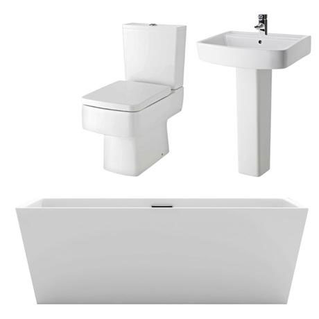 Bliss Square Double Ended Freestanding Bath Suite At Victorian