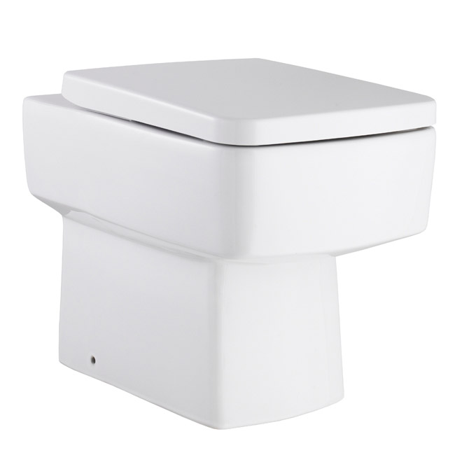 Bliss Squared Design Back to Wall Pan and Top Fix Seat - Standard or Soft Close Seat Option Large Image