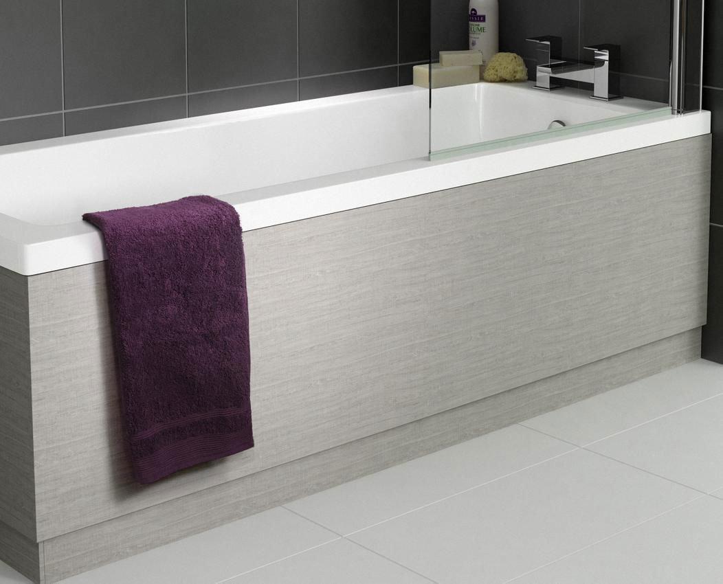 Hudson Reed Blonde Oak Front Bath Panel - Various Size Options profile large image view 2