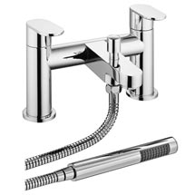 Bosa Bath Shower Mixer Taps + Shower Kit - Chrome Medium Image