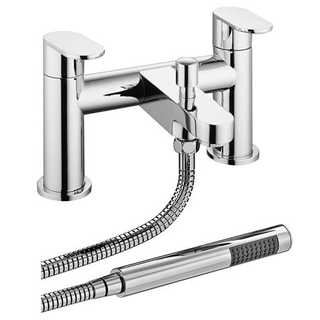 Bosa Bath Shower Mixer Taps + Shower Kit - Chrome