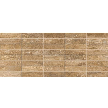 Bosa Marbled Brown Mosaic Wall Tile (Gloss - 200 x 500mm)