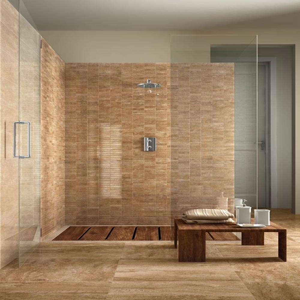 Bosa Marbled Brown Wall Tile (Gloss - 200 x 500mm) Profile Large Image