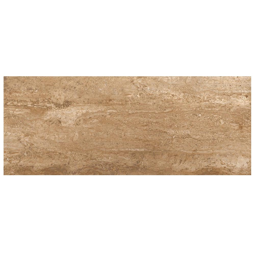 Bosa Marbled Brown Wall Tile (Gloss - 200 x 500mm) Large Image