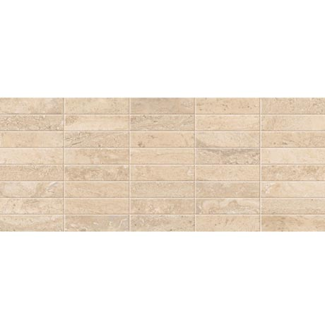Bosa Marbled Cream Mosaic Wall Tile (Gloss - 200 x 500mm)