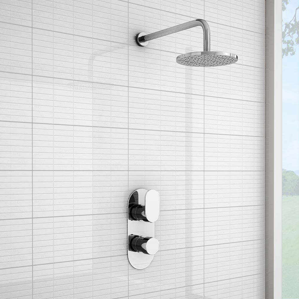 Bosa Modern Twin Concealed Thermostatic Shower Valve Profile Large Image
