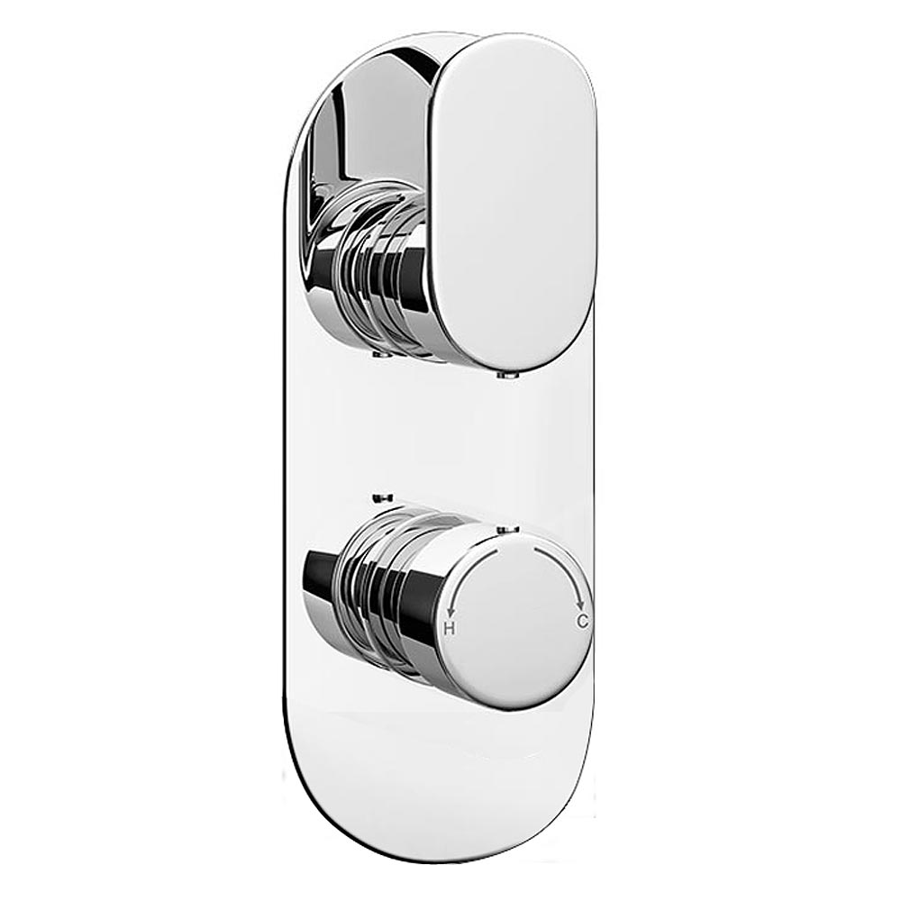 Bosa Modern Twin Concealed Thermostatic Shower Valve Large Image