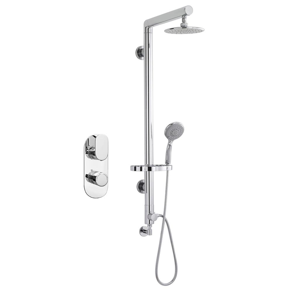 Bosa Rigid Riser Shower Package - Chrome profile large image view 1