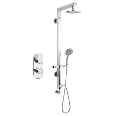 Bosa Rigid Riser Shower Package - Chrome