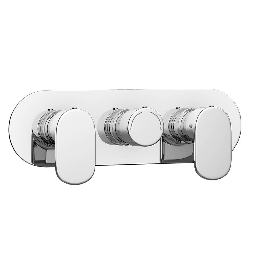 Bosa Modern Triple Concealed Thermostatic Shower Valve Profile Large Image