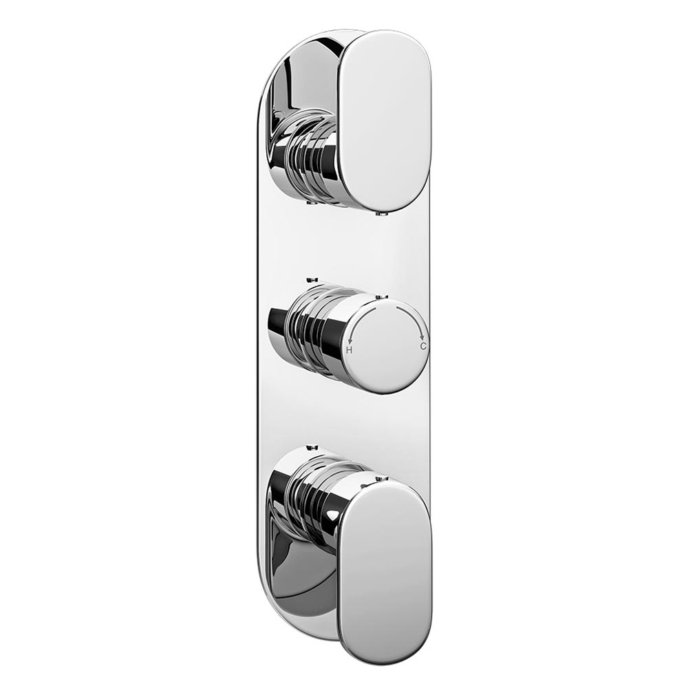 Bosa Modern Triple Concealed Thermostatic Shower Valve Large Image