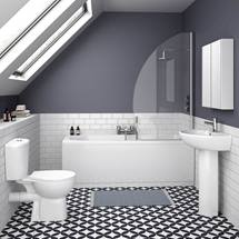 Brisbane 5-Piece Modern Bathroom Suite Medium Image