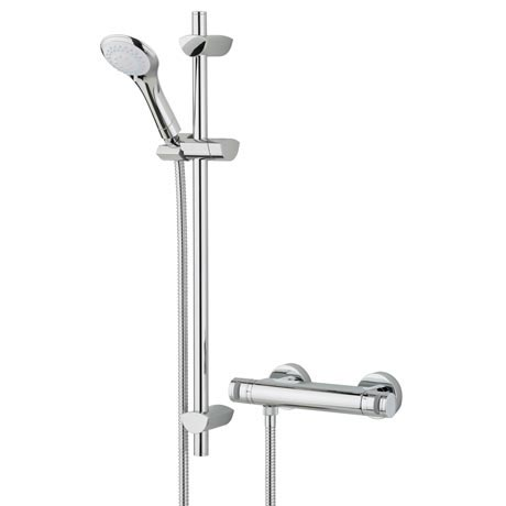 Bristan Artisan Thermostatic Surface Mounted Bar Shower Valve + Adjustable Riser