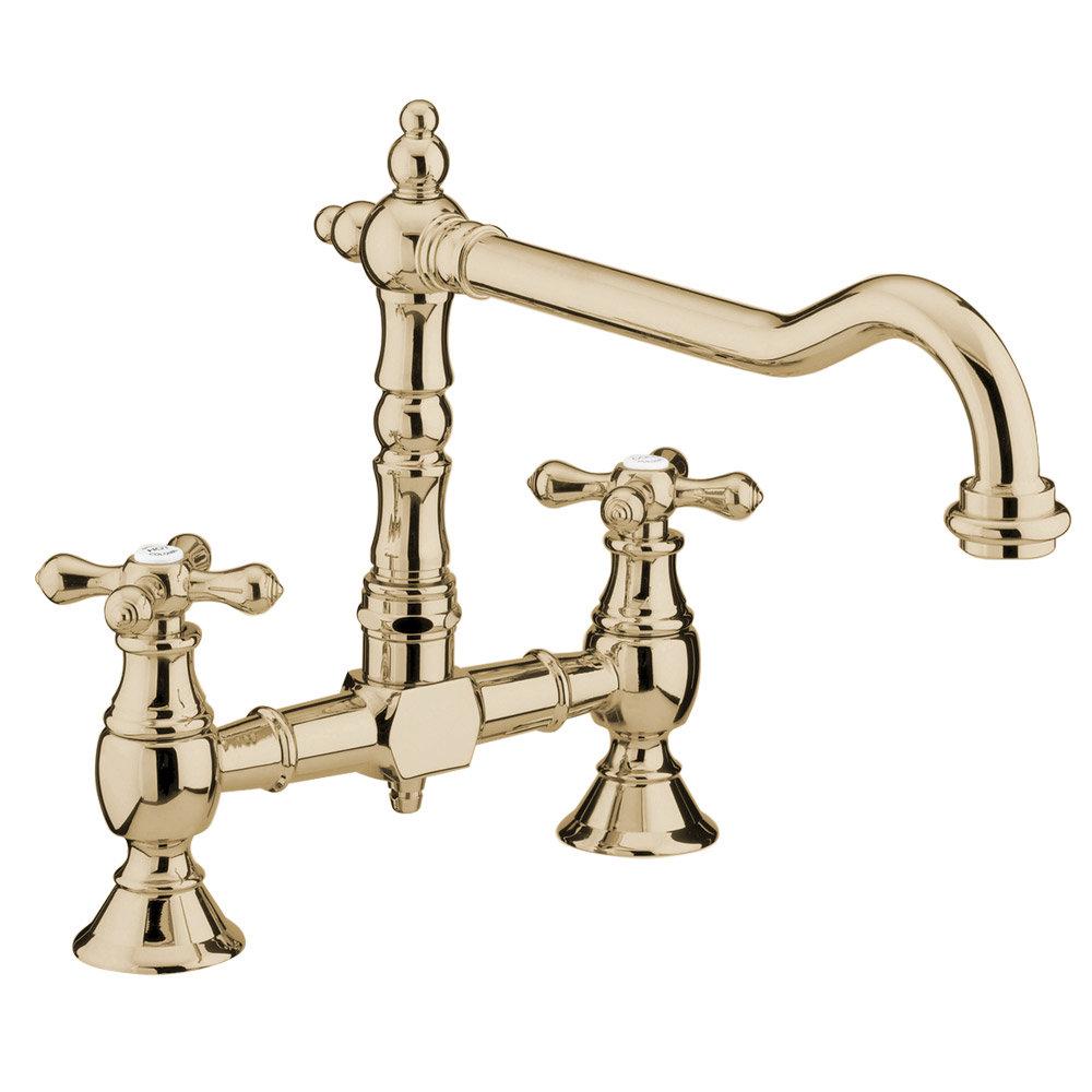 Bristan - Colonial Bridge Kitchen Sink Mixer - Antique Bronze - K-BRSNK-ABRZ Large Image
