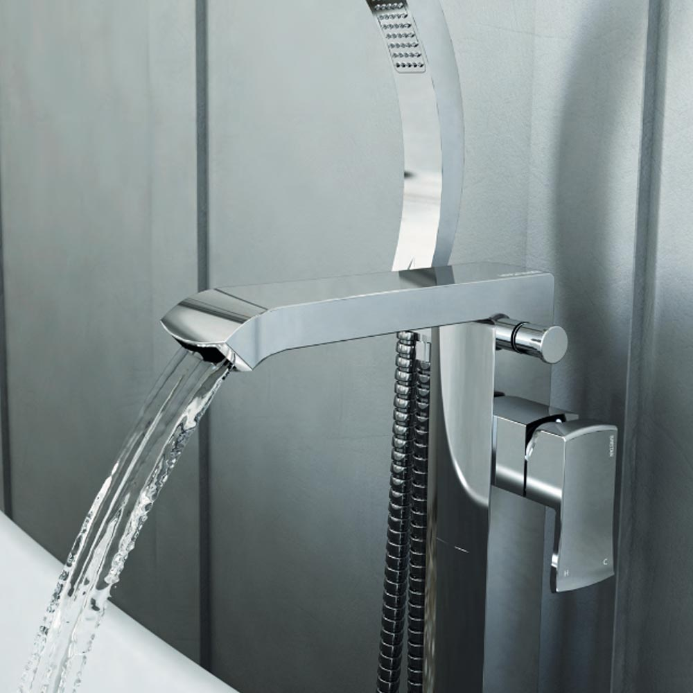 Bristan Descent Floor Standing Bath Shower Mixer Standard Large Image