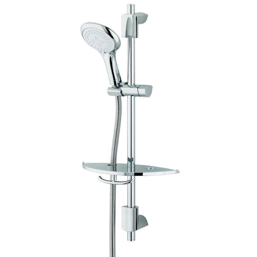 Bristan - EVO Shower Kit with Large Multi Function Handset & Shelf Large Image
