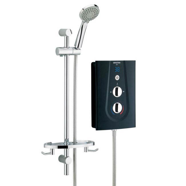 Bristan - Glee 8.5KW Electric Shower - Black - GLE85B profile large image view 1