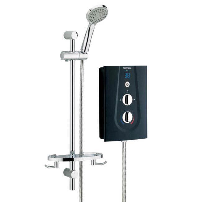 Bristan - Glee 8.5KW Electric Shower - Black - GLE85B Large Image