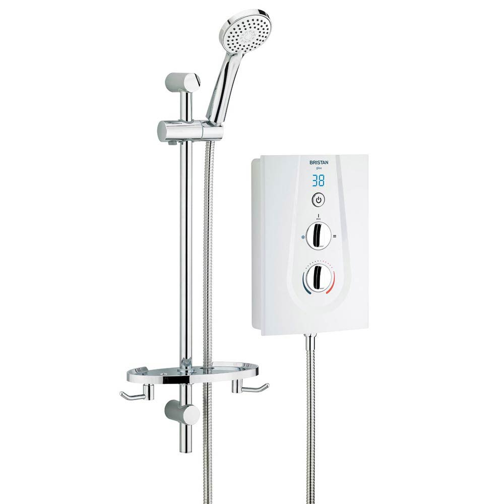 Bristan - Glee 9.5KW Electric Shower - White - GLE95W Large Image