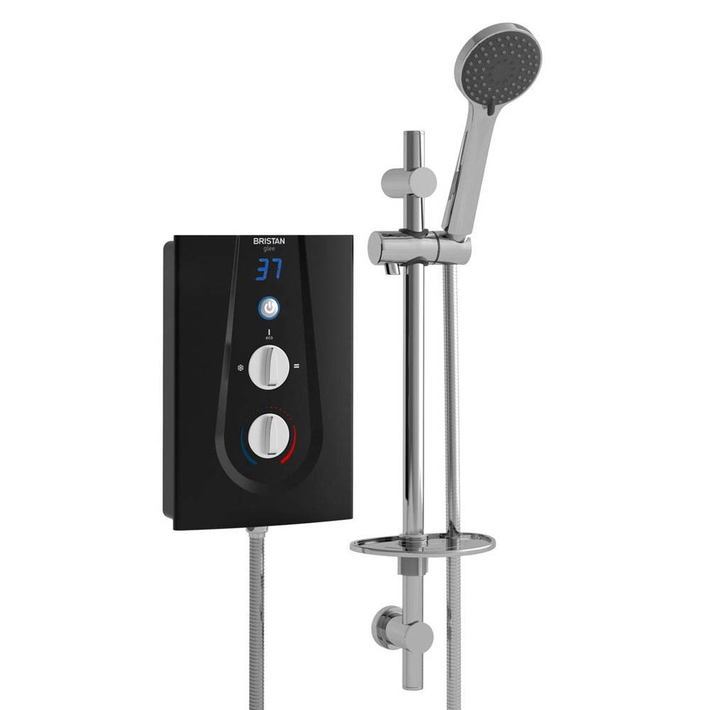 Bristan Glee Electric Shower Black profile large image view 1