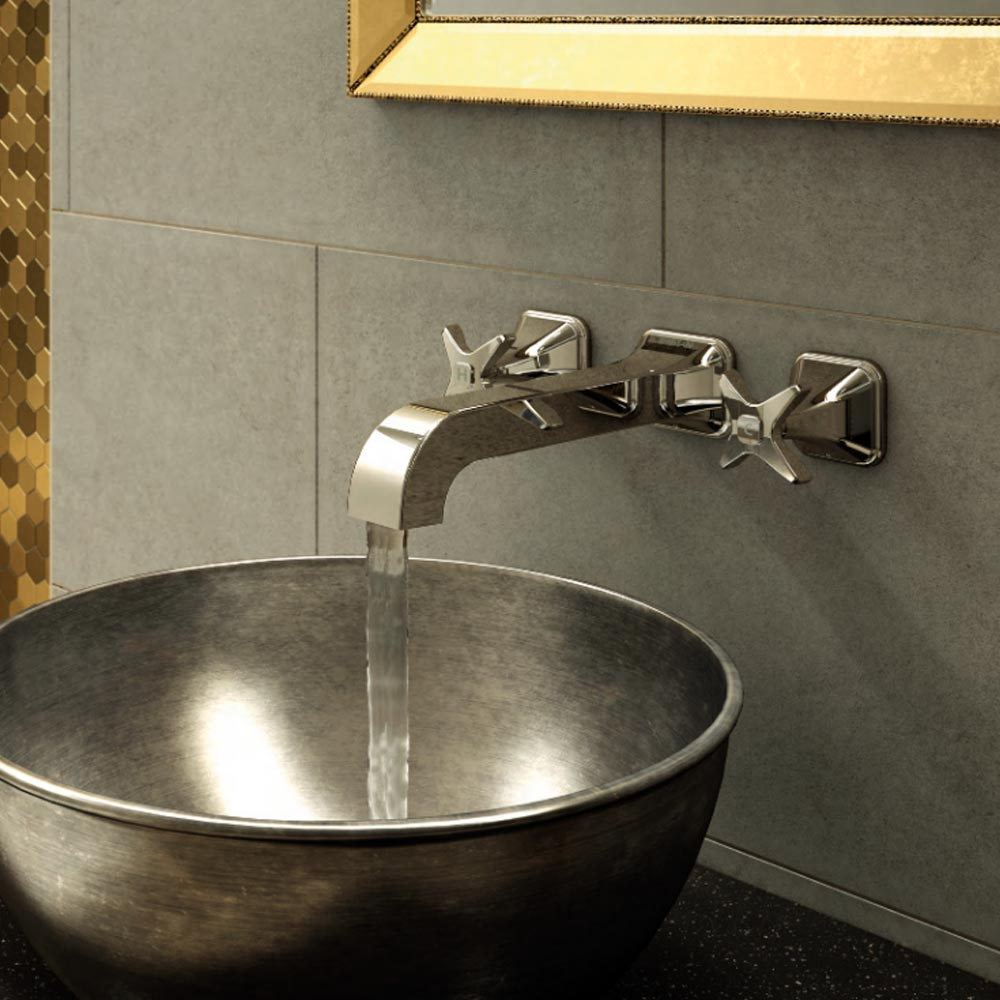 Bristan Glorious Wall Mounted Basin Mixer profile large image view 5