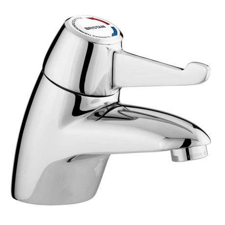 Bristan Gummers Solo Thermostatic Basin Mixer with Short Lever (No Waste)