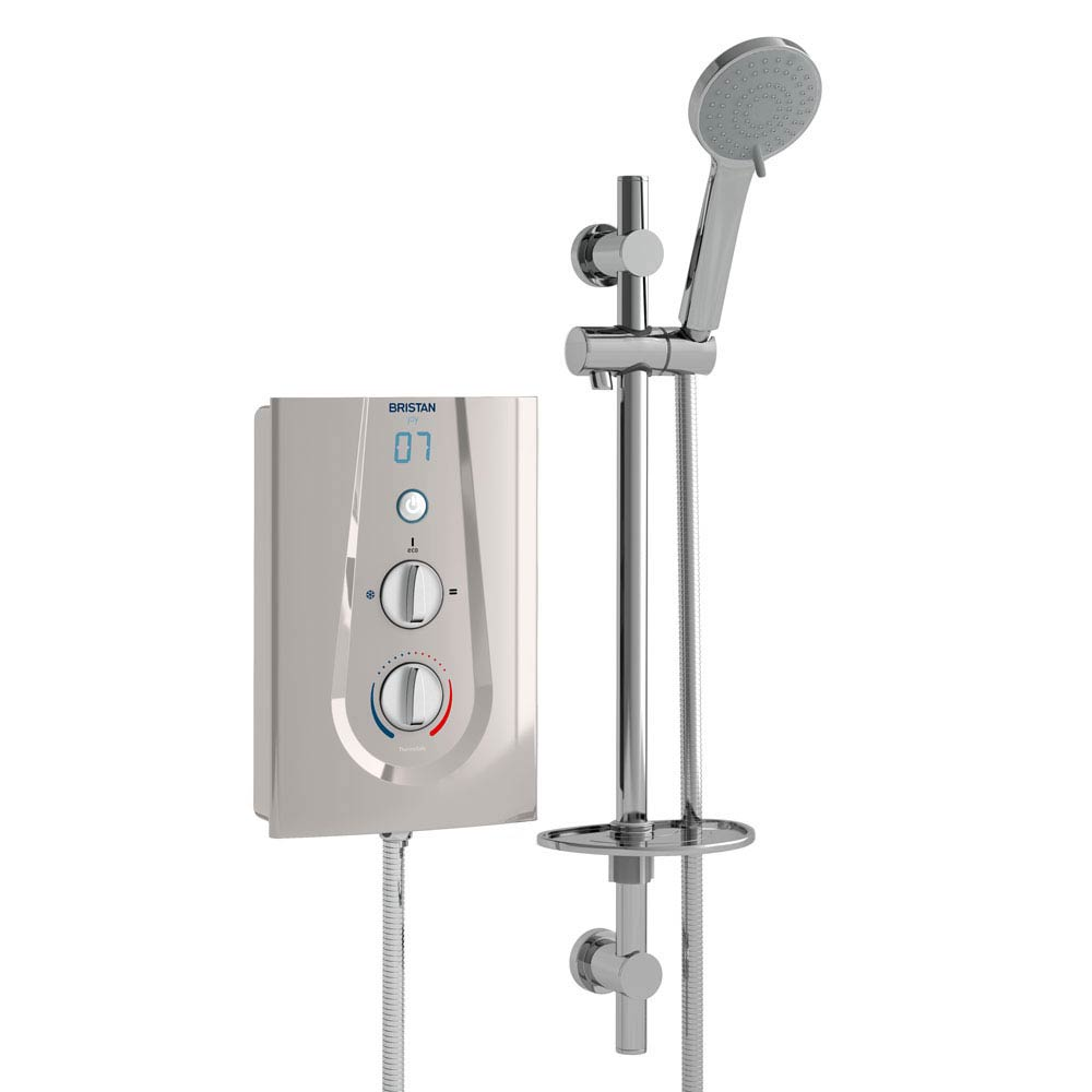 Bristan Joy ThermoSafe Electric Shower Metallic Silver Large Image
