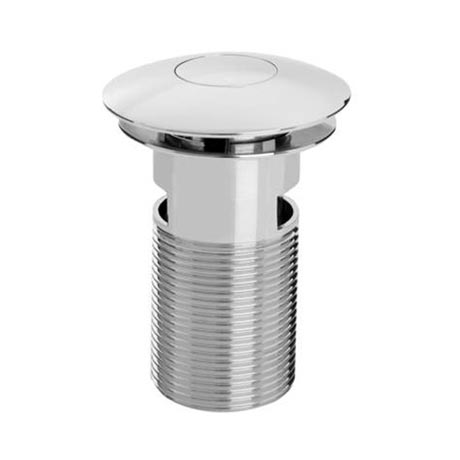 Bristan Round Push Basin Waste Slotted Chrome