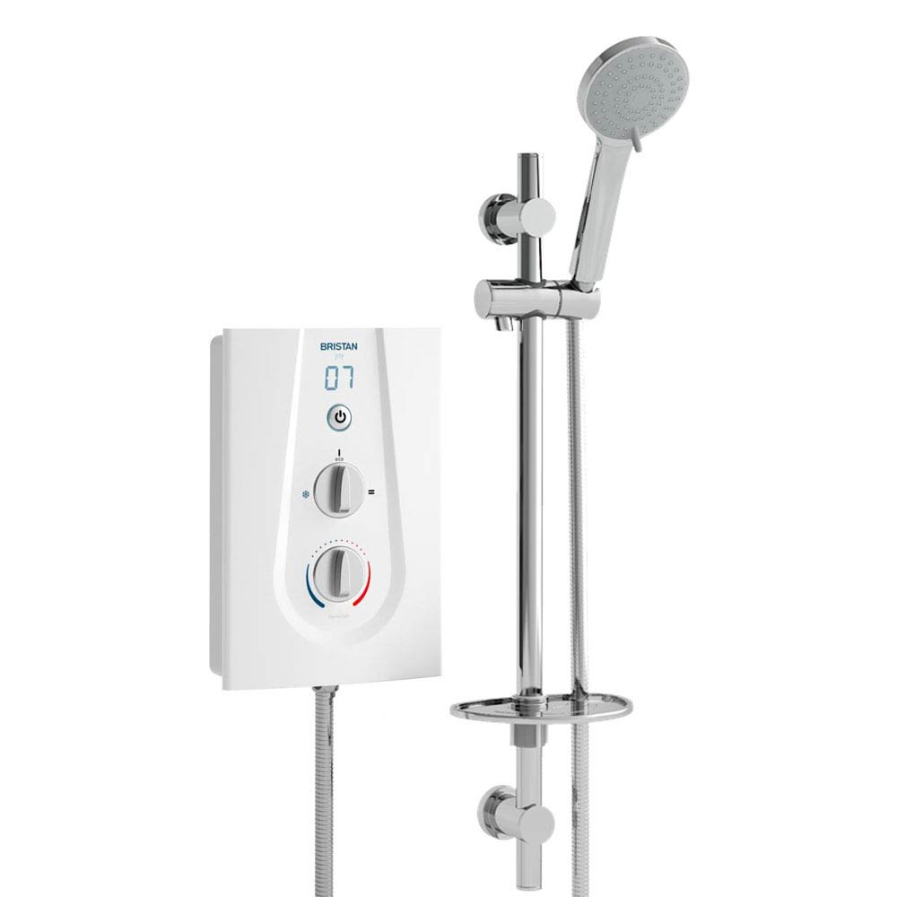 Bristan Joy ThermoSafe Electric Shower White profile large image view 1