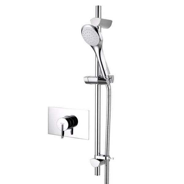 Bristan - Sonique2 Concealed Thermostatic Surface Mounted Shower Valve with Adjustable Riser Large I