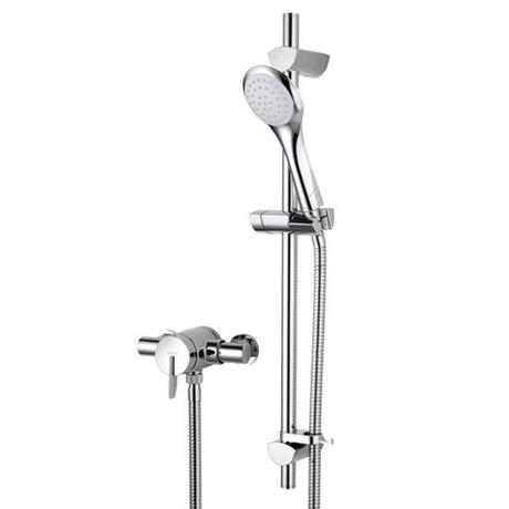 Bristan - Sonique2 Exposed Thermostatic Surface Mounted Shower Valve with Adjustable Riser