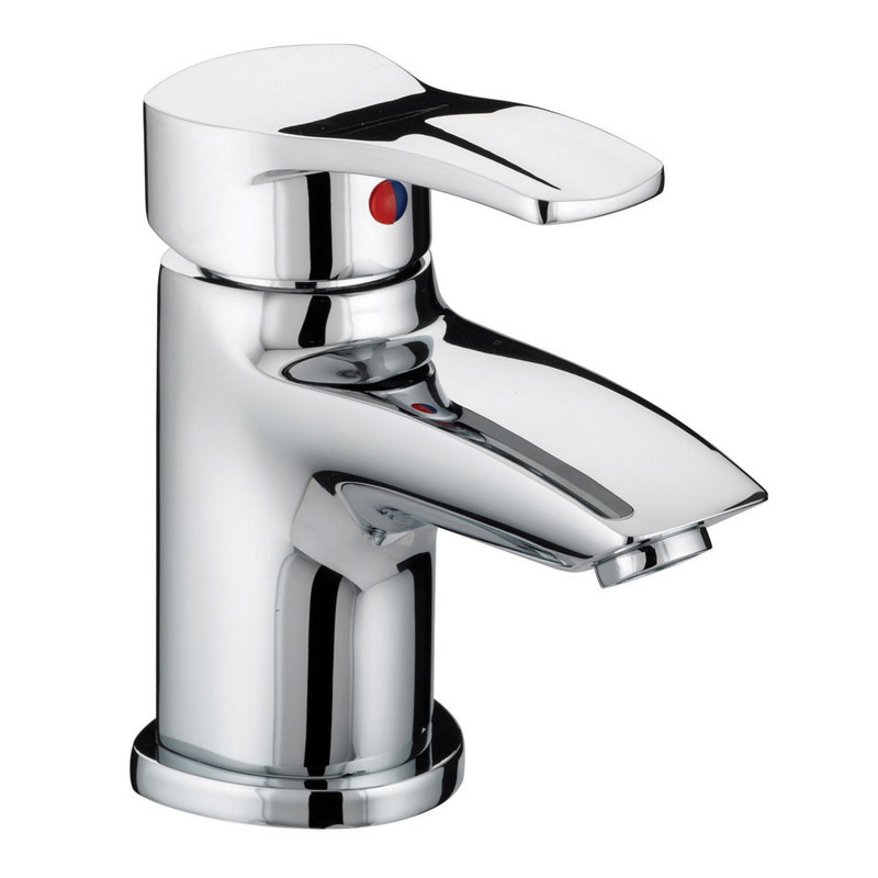 Bristan Capri Contemporary Basin Mixer with Pop-Up Waste - Chrome - CAP-BAS-C Large Image