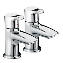 Bristan Capri Contemporary Basin Pillar Taps - Chrome - CAP-1/2-C Medium Image