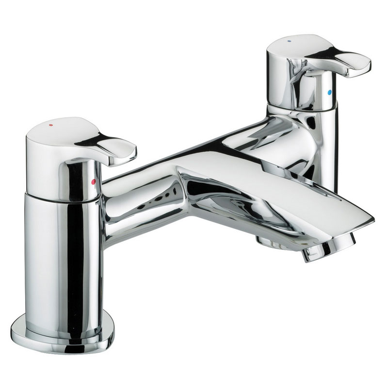 Bristan Capri Contemporary Pillar Bath Filler - Chrome - CAP-BF-C Large Image